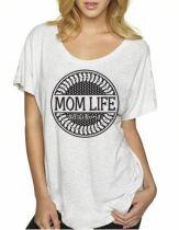 $20 Mom Life OTR, Heather White Ladies Size S-XL